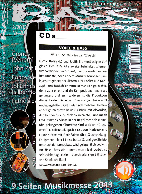 Bass Professor - CD Rezension klein